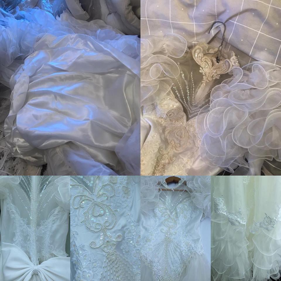 vintage wedding dress cleaning